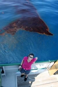 Parte de la mancha del derrame del Deepwater Horizon - mayo 2010, a un mes de empezar el derrame de petróleo